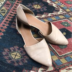 Vince Nina Leather D'Orsay Flats size 8 nude tan